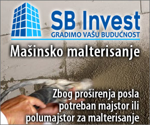 SB Invest - mašinsko malterisanje