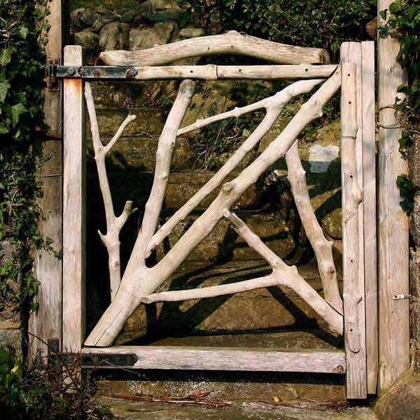 kreativna vrata za vrt