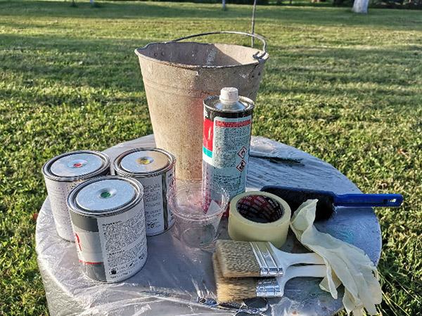 1 materijal za bojenje kofe