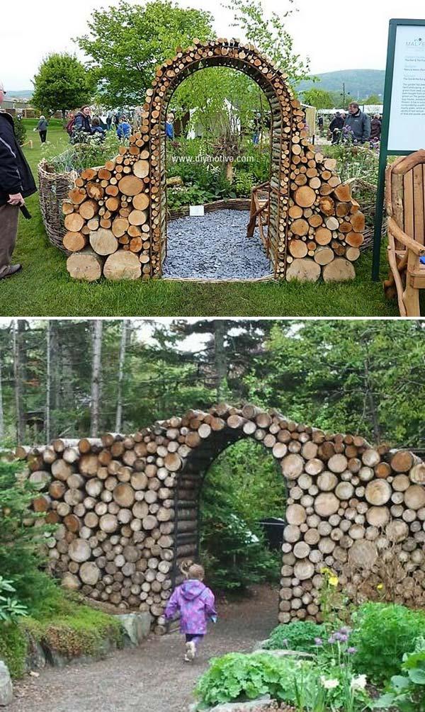 kapija od drvenih oblica 11