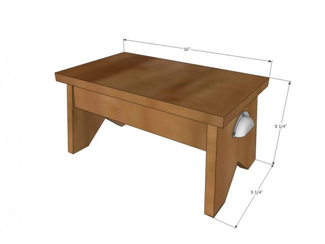 2step stool diy dimensions