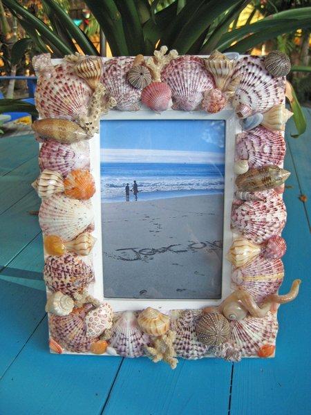 ram za sliku od morskih skoljki i puzeva