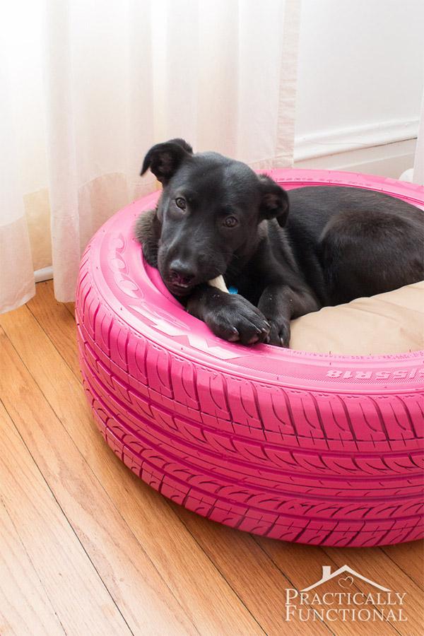 krevet za psa od stare automobilske gume